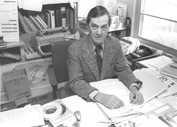 Art Cole at his desk
