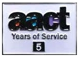 image of AACT Service Award pin