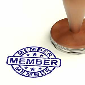 "Image of rubber stamp with word ""member"""