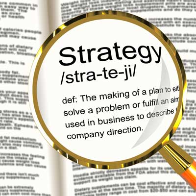 Image with definition of strategy